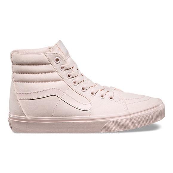 fe69858cb694 Vans mono canvas sk8 hi pink peach blush. M 5b194f9ffe5151e8c24d0102